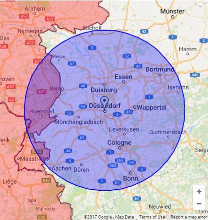 Einsatzgebiet Rohrreinigung Düsseldorf